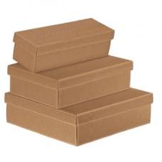 Scatola in cartone Onda avana - con coperchio orizzontale - 34 x 18,5 x 9,5cm - Scotton