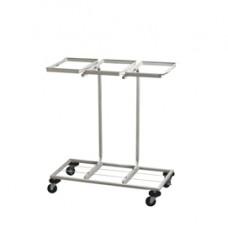 Carrello mobile Triflux - 83,3x36x90 cm - con ruote - 3 portasacco da 100 L ciascuno - acciaio - Medial International