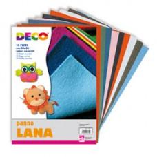 Panno lana - 20x30cm - colori assortiti - DECO - conf. 10 pezzi
