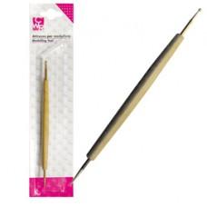 Bulino - doppia punta in acciaio per sbalzo/embossing - 18.5cm - CWR