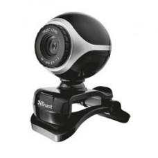 Webcam Exis - microfono integrato - nero/silver - Trust
