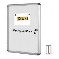 Bacheca per interni - fondo bianco magnetico - 4 fogli A4 - verticale - Bi-Office