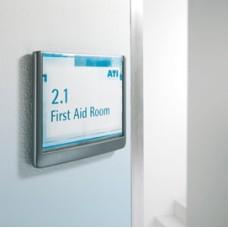Targa per porte/pareti Click Sign - 21x14,9 cm (A5) - Durable