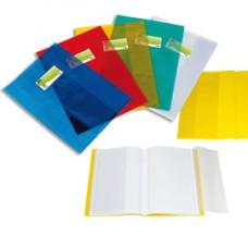 Coprimaxi - A4 - PPL -  liscio trasparente - blu - con alette - portanome - Sei Rota
