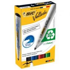Marcatori Whiteboard Marker Velleda 1701 Recycled BIC - punta tonda 1,5mm - astuccio 4 colori  - Bic