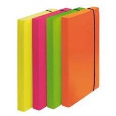 Cartella progetto Shocking File - con elastico - 24x35 cm - colori fluo assortiti - Fellowes
