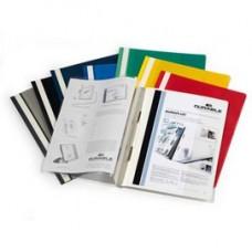 Cartellina ad aghi Duraplus - copertina personalizzabile - 21x29,7 cm - rosso - Durable