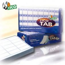 Etichette a modulo continuo Tico TAB 1 - 100x23,5 mm - corsia singola - permanente - bianco - Tico - scatola da 6000 etichette