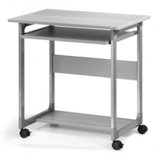 Pc Workstation System 75 FH - 75x53,4x77 cm - 3 ripiani - con ruote - grigio - Durable