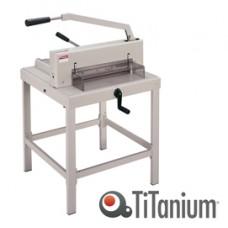 Taglierina a leva alti spessori  3941 - 1070x680x740 mm - 430 mm (A3) - capacitA' taglio 500 fg - con blocca lama - grigio - Titanium