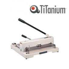 Taglierina a leva alti spessori 3943 - 265x450x475 mm - 370 mm (A3) - capacitA' taglio 150 fg - con blocca lama - grigio -Titanium