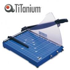 Taglierina a leva 3024 - B4 - 335x480x415 mm - 392 mm - capacitA' taglio 20 fg - con blocca lama - blu -Titanium