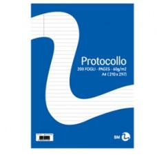 Foglio protocollo - A4 - 1 rigo - 60 gr - BM - conf. 20 pezzi