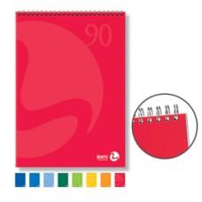 Blocco notes Color - spiralato lato corto - 5mm - 210 x 297mm - 90gr - 50 fogli - BM