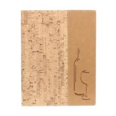 Carta dei vini Design - sughero - A4 - 24x34 cm - 1 inserto doppio incluso - Securit