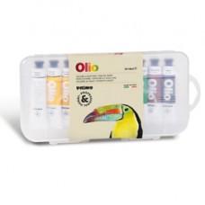 Colori a olio e acrilici - tubo da 18ml - colori assortiti - Primo - astuccio 10 colori