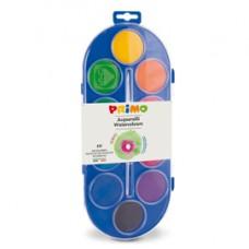 Pastiglie Acquerelli  - D 44mm - colori assortiti - Primo - astuccio 10 pastiglie