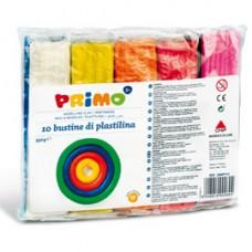 Panetto plastilina - 10 colori - 55gr - Primo