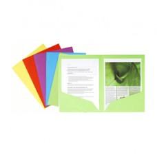 Cartelline a doppia tasca Rock's - cartoncino 220 gR - 24x32 cm - mix 5 colori - Exacompta - conf. 25 pezzi