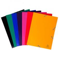 Cartellina 3 lembi - con elastici - PPL - 24x32 cm - colori assortiti - Exacompta