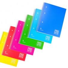 Maxiquaderno One Color - A4+ - forato - 1 rigo - 80 fogli - 80 gr - spiralato - copertina PPL - Blasetti