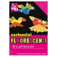 Cartelli fluo - senza scritte - 35x50 cm - 260 gr - colori assortiti - CWR - conf. 10 pezzi