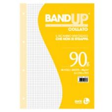 Blocco collato BandUp - fori rinforzati - A4 - quadretto 5mm - 40 fogli - 90gr - BM