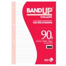 Blocco collato BandUp - fori rinforzati - A4 - 1 rigo - 40 fogli - 90gr - BM