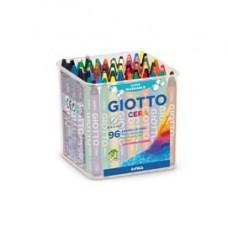 Pastelli cera - lunghezza 90mm con D 8,50mm - colori assortiti - Giotto -  barattolo 96 colori