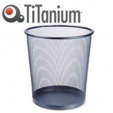 Cestino gettacarte - metallo - 12 lt - nero - Titanium