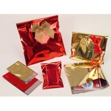 Busta regalo in PPL - metal lucido - oro - 40 x 60cm - senza patella adesiva - PNP - conf. 25 buste