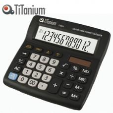 Calcolatrice da tavolo - 73031 - 12 cifre - nero - Titanium