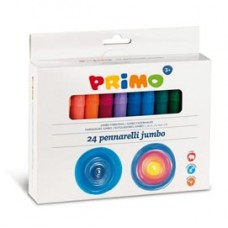 Pennarelli Jumbo - punta D7,6mm - colori assortiti - Primo - astuccio 24 pezzi