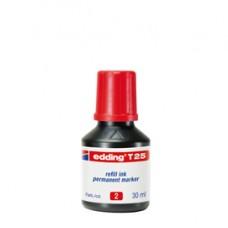 Ricarica Inchiostro per Marcatore Permanente - contenuto 30ml - rosso - Edding