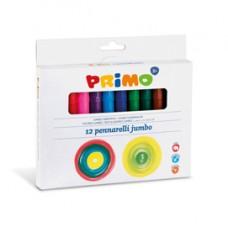 Pennarelli Jumbo - punta D7,6mm - colori assortiti - Primo - astuccio 12 pezzi