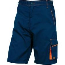 Bermuda da lavoro Panostyle  M6BER - sargia/poliestere/cotone - taglia XL - blu/arancio - Deltaplus