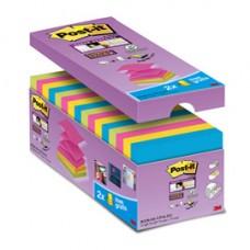 Blocchetto Post it  Super Sticky Z Notes - per dispenser - 76 x 76mm - 90 fogli - Post it  - conf. 16 blocchi