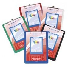 Portablocco con molla in metallo - copertina in PPL - A4 - trasparente - Iternet