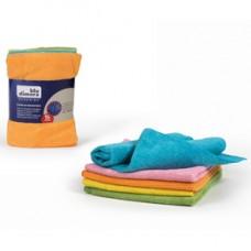 Panno in microfibra - multiuso - 40x40 cm - colori assortiti - Blu Dimora - conf. 5 pezzi