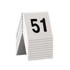 Numeri per tavoli - set da 51 a 60 - Securit