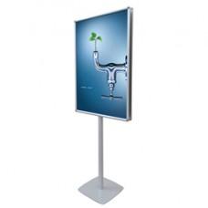 Porta poster bifacciale Info Pole Design - autoportante - cornice a scatto - 70x100 cm - Studio T
