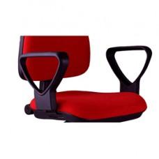 Coppia braccioli per sedia operativa A41B - nylon - nero - Unisit