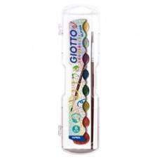 Pastiglie Acquerelli glitter e metal  - colori assortiti - Giotto - astuccio 8 pastiglie glitter