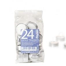 Candele Tealights - bianco - Lumen - sacchetto da 24 pezzi