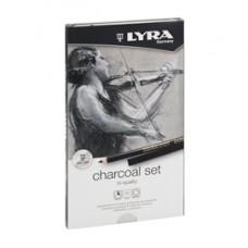 Carboncini in matita e stick di qualitA' Rembrandt Charcoal Set - Lyra - astuccio metallo