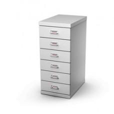 Cassettiera in acciaio - 6 cassetti - 29x43x67 cm - grigio - Tecnical 2