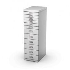 Cassettiera in acciaio - 12 cassetti - 29x43x97 cm - grigio - Tecnical 2