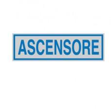 Targhetta adesiva - ASCENSORE - 165x50 mm - Cartelli Segnalatori