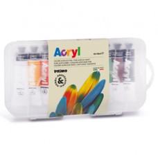 Colori a olio e acrilici - 18ml - colori assortiti - Primo - astuccio 10 colori