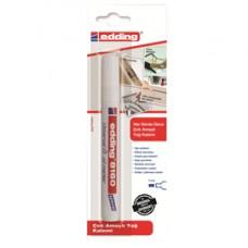 Marcatore ad olio universale 8180 - punta scalpello - tratto 4,0mm - trasparente - Edding